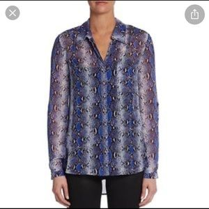 DVF Lorelei silk shirt. Size 4. VGUC